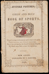 1849 Juvenile Pastimes; Girls and Boys Book of Sports - Baseball