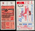 Baseball Collectibles:Tickets, 1929 and 1970 World Series Ticket Stub Pair (2)....