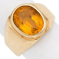 Estate Jewelry:Rings, Citrine, Gold Ring. . ...