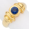 Estate Jewelry:Rings, Sapphire, Gold Ring. . ...