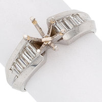 Diamond, White Gold Semi-Mount