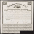 Confederate Notes:Group Lots, Ball 2 Cr. 5 $50 1861 Bond Fine. . ...