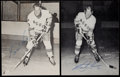 Hockey Collectibles:Photos, Gordie and Marty Howe Signed Oversized Card Pair (2)....