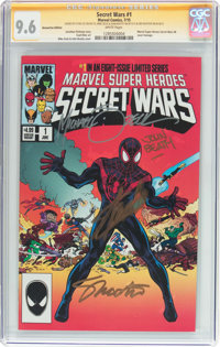 Secret Wars #1 HeroesCon Edition - Signature Series (Marvel, 2015) CGC NM+ 9.6 White pages