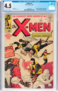 X-Men #1 (Marvel, 1963) CGC VG+ 4.5 Cream to off-white pages