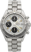Timepieces:Wristwatch, Breitling Model A 13035 Steel Automatic Colt Chronograph. ...