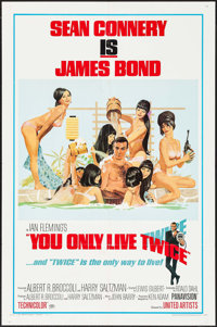 "You Only Live Twice (United Artists, 1967). One Sheet (27"" X 41"") Style C. James Bond"