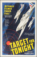 "Movie Posters:War, Target for Tonight (Warner Brothers, 1941). One Sheet (27"" X 41"").War.. ..."