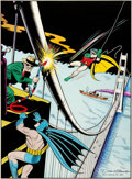 Original Comic Art:Covers, Dick Sprang Batman #76 Cover Recreation Original Art (1984)....