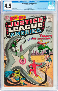The Brave and the Bold #28 Justice League of America (DC, 1960) CGC VG+ 4.5 Light tan to off-white pages