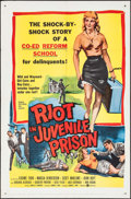 """Movie Posters:Exploitation, Riot in Juvenile Prison (United Artists, 1959). One Sheet (27"""" X41"""") & Lobby Card Set of 8 (11"""" X 14""""). Exploitation.. ...(Total: 9 Items)"""
