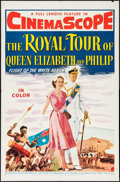 """Movie Posters:Documentary, The Royal Tour of Queen Elizabeth and Philip (20th Century Fox, 1954). One Sheet (27"""" X 41"""") & Lobby Card Set of 8 (11"""" X 14... (Total: 9 Items)"""