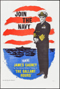 "Movie Posters:War, The Gallant Hours (United Artists, 1960). One Sheet (27"" X 41"")Navy Recruitment Style. War.. ..."