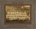 Baseball Collectibles:Photos, 1916 Boston Red Sox Team Cabinet Photograph with Babe Ruth....