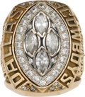 Football Collectibles:Others, 1993 Dallas Cowboys Super Bowl XXVIII Championship Staff Ring. ...