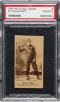 Baseball Cards:Singles (Pre-1930), 1887 N172 Old Judge Ed Delahanty (#123-4) PSA Good 2....