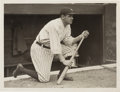 Baseball Collectibles:Photos, Early 1920's Babe Ruth Original News Photograph by Paul Thompson,PSA/DNA Type 1....