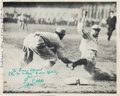 """Baseball Collectibles:Photos, 1958 Ty Cobb Signed """"Spiking of Home Run Baker"""" Photograph, PSA/DNAMint 9...."""
