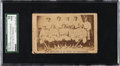 Baseball Cards:Singles (Pre-1930), 1869 CDV Cincinnati Red Stockings (Team Line-Up-Reverse) SGC 10Poor 1....
