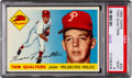 Baseball Cards:Singles (1950-1959), 1955 Topps Tom Qualters #33 PSA Mint 9 - Pop Three, None Higher....
