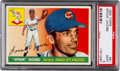 Baseball Cards:Singles (1950-1959), 1955 Topps Spook Jacobs #61 PSA Mint 9 - Pop Four, None Higher....
