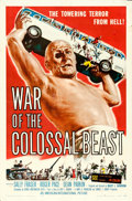 "Movie Posters:Science Fiction, War of the Colossal Beast (American International, 1958). One Sheet(27"" X 41""). Albert Kallis Artwork.. ..."