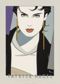 Prints, Patrick Nagel (American, 1945-1984). Galerie Michael Poster, 1982. Lithograph in colors. 25 x 18 inches (63.5 x 45.7 cm)...