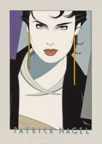 Patrick Nagel (American, 1945-1984) Galerie Michael Poster, 1982 Lithograph in colors 25 x 18 inc