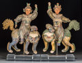Other, Five Chinese Sung Dynasty-Style Ceramic and Plaster Figures, 20th century. 24-3/8 inches high (61.9 cm) (tallest). PROPERT... (Total: 5 Items)