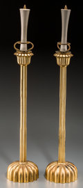 Asian:Japanese, A Large Pair of Japanese Gilt Lacquered Candle Prickets, 19thcentury. 21-1/2 inches high (54.6 cm). PROPERTY FROM THE EST...(Total: 2 Items)