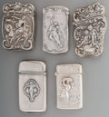 Silver Smalls:Match Safes, A Watrous and Four American Silver Match Safes with MythologicalMotifs, Wallingford, Connecticut, early 20th century. Marks...(Total: 5 Items)