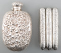 Silver Smalls, A Silver Gorham Flask and Webster Co. Cigar Case, late 19thcentury. Marks: (lion-anchor-G), STERLING, 256 C;STERLING... (Total: 2 Items)