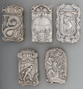 Silver Smalls:Match Safes, Five Assorted American Silver Match Safes, Providence, Rhode Island& Attleboro, Massachusetts, late 19th/early 20th century...(Total: 5 Items)