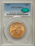 Liberty Eagles, 1891 $10 MS62+ PCGS. CAC....