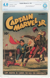 Captain Marvel Jr. #13 Cookeville Pedigree (Fawcett Publications, 1943) CBCS VG 4.0 Cream to off-white pages