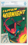 Golden Age (1938-1955):Superhero, Captain Midnight #7 (Fawcett Publications, 1943) CBCS Restored (Slight/Moderate) FN+ 6.5 White pages....