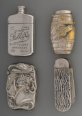 Silver Smalls:Match Safes, A Group of Four Silver-Plated and Chrome Match Safes, late19th/early 20th century. Marks: (various marks). 2-3/4 inches hi...(Total: 4 Items)