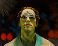 Paintings, Charles Bragg (American, b. 1931). Portrait of Clown, 1958. Oil on canvas. 16 x 20 inches (40.6 x 50.8 cm). Signed and d...