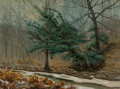 Fine Art - Painting, American:Modern  (1900 1949)  , Ira McDade (American, 1867-1954). Winter in Forest Park,1934. Oil on canvas laid on panel. 18 x 24 inches (45.7 x 61.0 ...