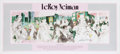 Non-Sport Cards:Singles (Pre-1950), LeRoy Neiman Polo Lounge Signed Poster. ...