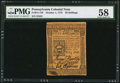Colonial Notes:Pennsylvania, Pennsylvania October 1, 1773 50s PMG Choice About Unc 58.. ...