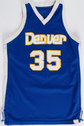 Basketball Collectibles:Uniforms, Circa 1979 Kim Hughes Denver Nuggets Game Worn Jersey....