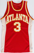 Basketball Collectibles:Uniforms, Late 1970's Eddie Johnson Atlanta Hawks Game Worn Jersey....