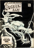 Original Comic Art:Covers, Mort Meskin Golden Lad #5 Cover Original Art (SparkPublications, 1946)....