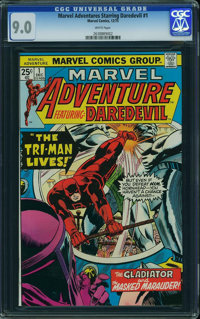 Marvel Adventure Starring Daredevil #1 (Marvel, 1975) CGC VF/NM 9.0 White pages