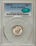 Mercury Dimes: , 1931-D 10C MS66 Full Bands PCGS. CAC. PCGS Population: (194/55). NGC Census: (54/12). Mintage 1,260,000. ...