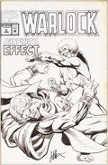Original Comic Art:Covers, Jim Starlin Warlock #2 Cover Original Art (Marvel, 1992)....