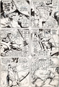 Original Comic Art:Panel Pages, Barry Smith and Tom Sutton Avengers #99 Page 4 Original Art(Marvel, 1972)....