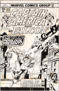 Original Comic Art:Covers, Gil Kane and Tony DeZuniga Captain America #221 Cover Original Art (Marvel, 1978)....