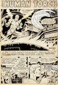 Original Comic Art:Panel Pages, Dick Ayers and Carl Burgos Human Torch #36 Story Page 1Original Art (Atlas/Marvel, 1954)....